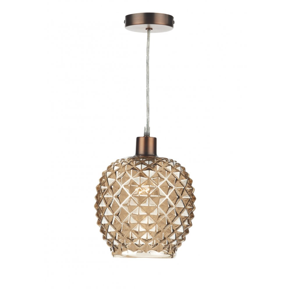 Dar mosaic easy fit ceiling light pendant shade with champagne dar mosaic easy fit ceiling light pendant shade with champagne coloured glass aloadofball Image collections
