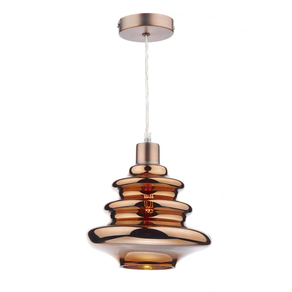 Dar zephyr easy fit ceiling light pendant in a copper finish dar zephyr easy fit ceiling light pendant in a copper finish aloadofball Choice Image